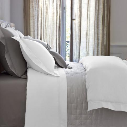 Yves Delorme - Triomphe Sateen Duvet Cover - White -...
