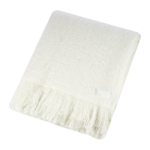 A By Amara - Mohair Feel Throw - Ivory
