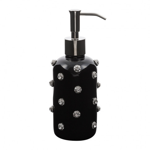 Mike + Ally - Nova Jewelled Glass Soap Dispenser - B...