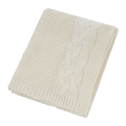 A by Amara - Knitted Cable Throw - Natural
