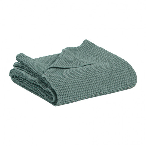 Vivaraise - Maia Stonewashed Throw - Green-Grey
