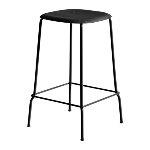 Hay - Soft Edge 30 Black Bar Stool - Low