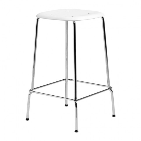 Hay - Soft Edge 30 Chrome Bar Stool - Low