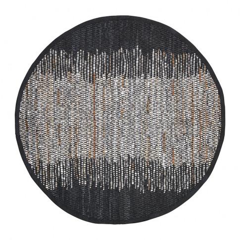 Broste Copenhagen - Birger Round Rug - Black/Silver