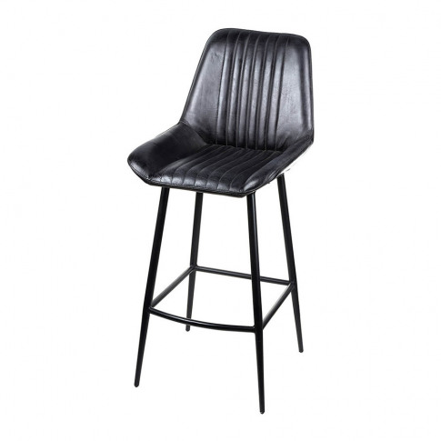 Parlane - Leather Billy Barstool - Black