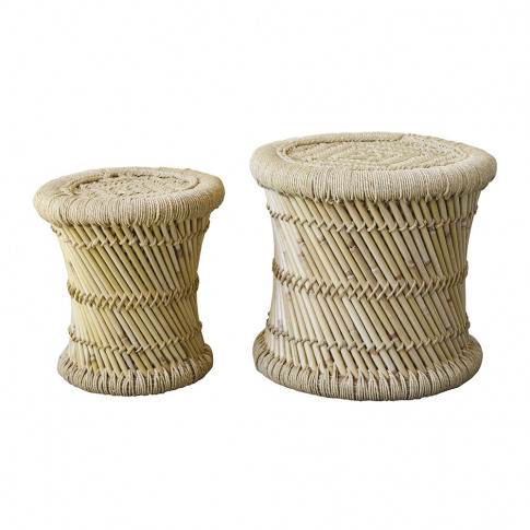 Bloomingville - Terrain Bamboo Stool - Set Of 2 - Na...
