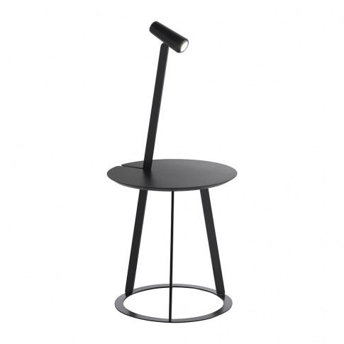 Horm & Casamania - Albino Side Table & Lamp - Black