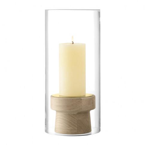 Lsa International - Mistral Oak Candle Holder & Glas...