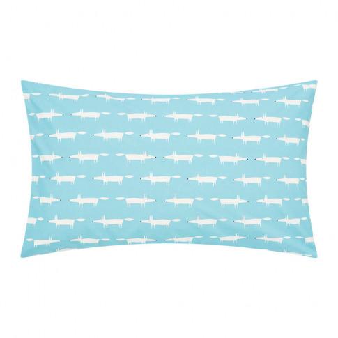 Scion - Mr Fox Pillowcase - Set Of 2 - Teal