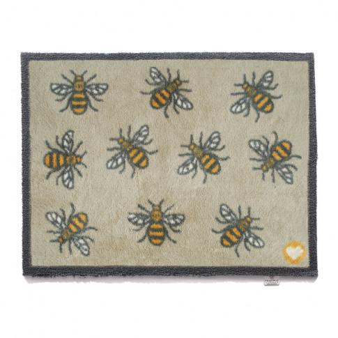 Hug Rug - Bee Washable Recycled Door Mat - 65x85cm -...
