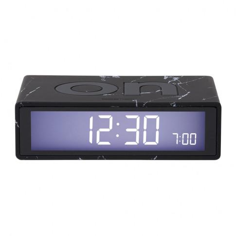 Lexon - Flip Clock - Black Marble