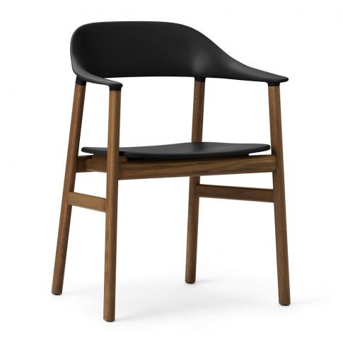 Normann Copenhagen - Herit Smoked Oak Armchair - Black