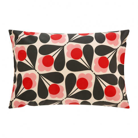Orla Kiely - Sycamore Seed Pillowcase - Fuchsia - Se...