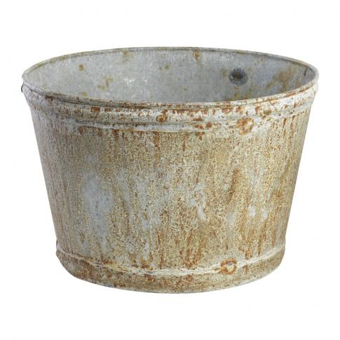 Nkuku - Abari Wide Zinc Plant Pot - Large