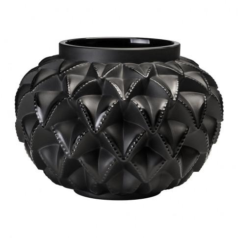Lalique - Languedoc Vase - Black - Small