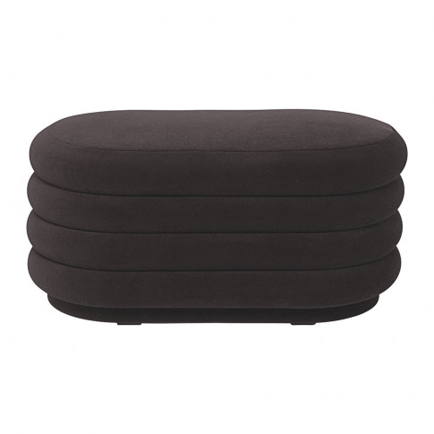 Ferm Living - Oval Pouf - Chocolate