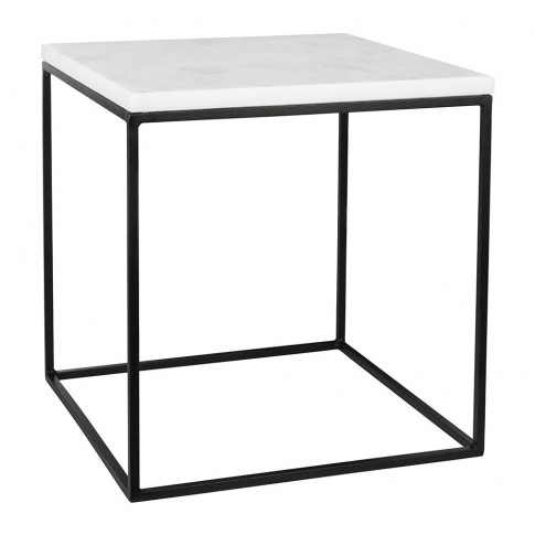 Stoned - White Marble Side Table - Large