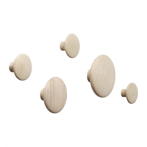 Muuto - The Dots Coat Hook - Set Of 5 - Natural Oak