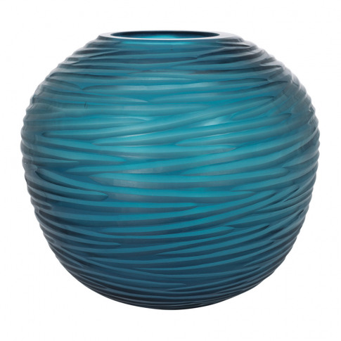 A By Amara - Rope Effect Glass Vase - Midnight Blue