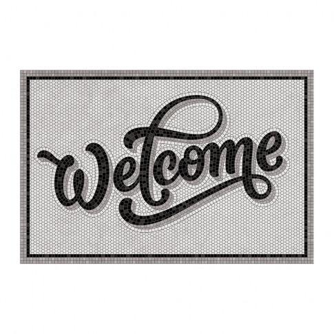 Beaumont - 5th Avenue Welcome Vinyl Door Mat - Grey/...