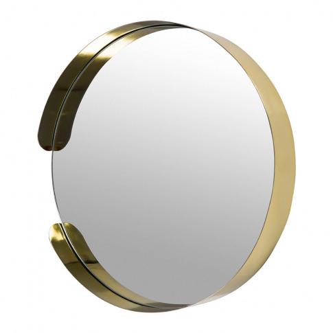 A By Amara - Asymmetric Framed Mirror - Gold