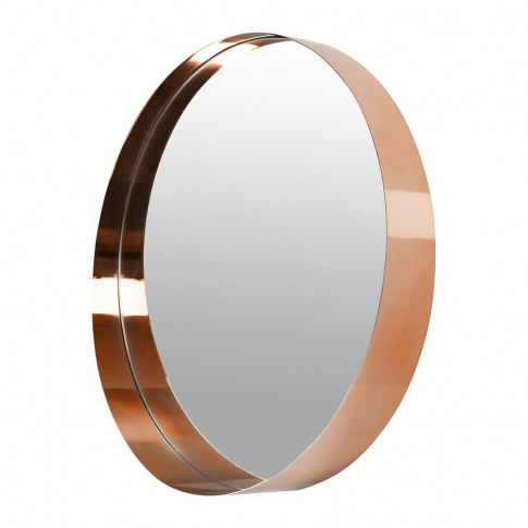 A By Amara - Round Border Mirror - Copper