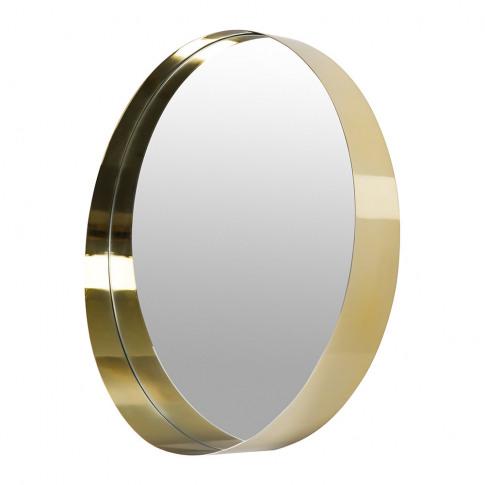 A By Amara - Round Border Mirror - Gold