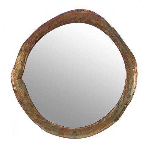 A By Amara - Round Melted Bronze Mirror