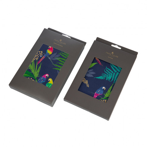 Sara Miller - Tea Towel And Oven Mitt Set - Parrot