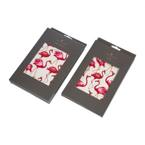 Sara Miller - Tea Towel And Oven Mitt Set - Flamingo