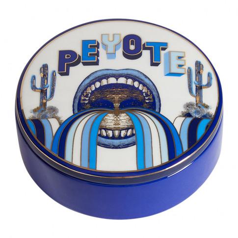 Jonathan Adler - Druggist Peyote Round Box - Multi Blue