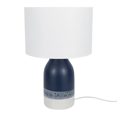 A by Amara - Kos Table Lamp - Blue/White