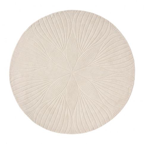 Wedgwood - Folia Round Rug - 150cm - Stone