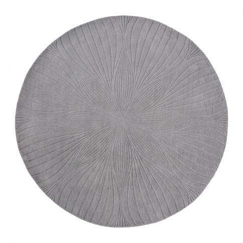 Wedgwood - Folia Round Rug - 150cm - Grey