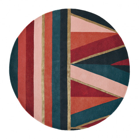 Ted Baker - Sahara Round Rug - 150cm - Burgundy