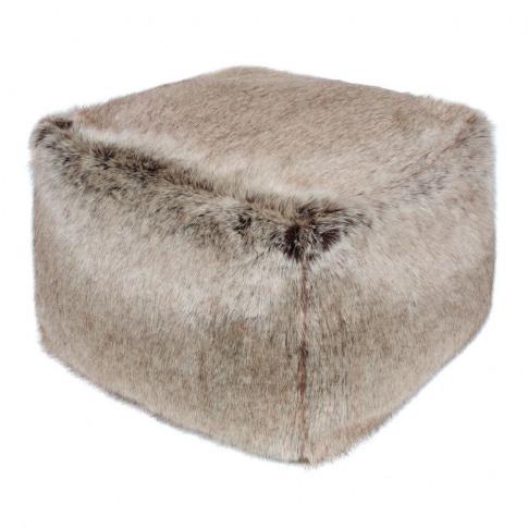 Helen Moore - Cube Pouf - Truffle