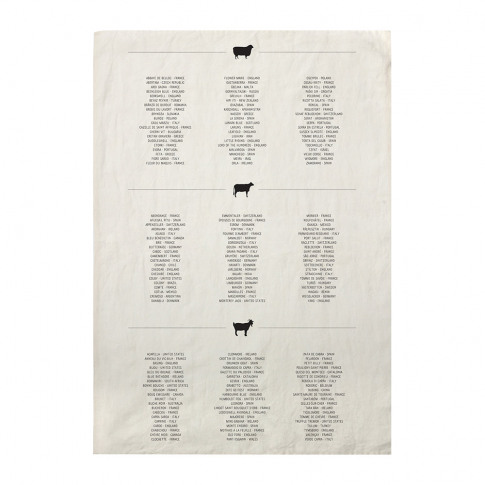 Sir/Madam - Cheese List Linen Tea Towel