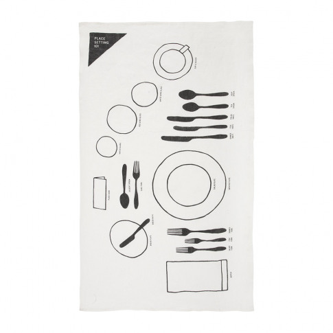 Sir/Madam - Place Setting Linen Tea Towel