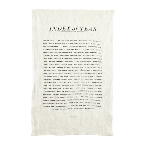 Sir/Madam - Tea List Linen Tea Towel