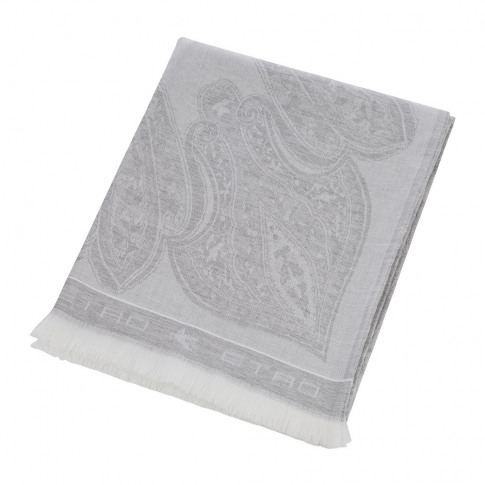 Etro - Smithtown Paisley Throw - 150x180cm - Grey