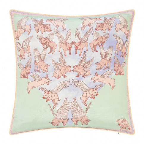 Silken Favours - Flying Pigs Cushion