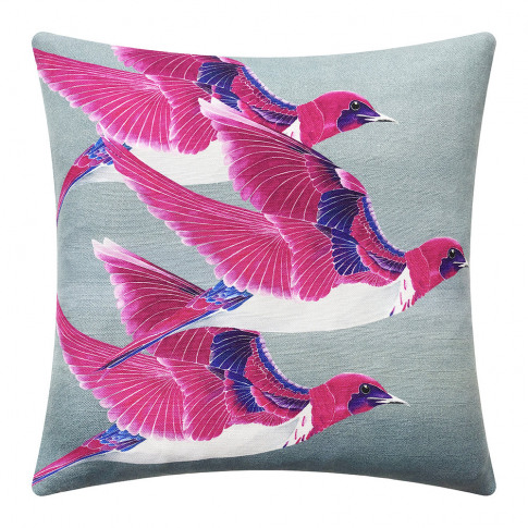 Anna Jacobs - Violet Backed Starling Cushion - 45x45cm
