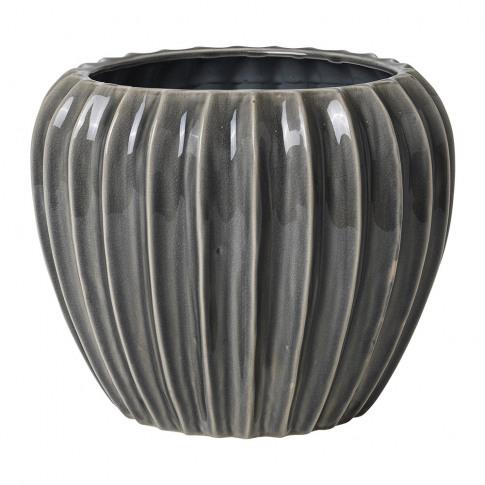 Broste Copenhagen - Wide Ceramic Flowerpot - Smoked ...