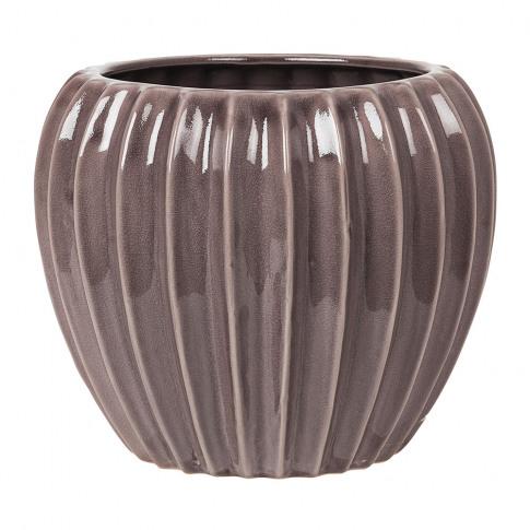Broste Copenhagen - Wide Ceramic Flowerpot - Minimal...