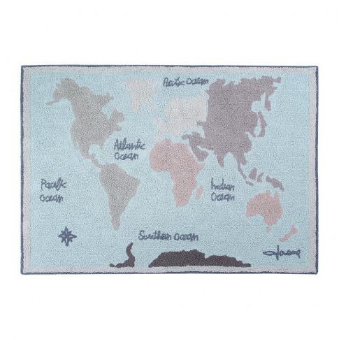 Lorena Canals - Vintage Map Washable Rug - 140x200cm