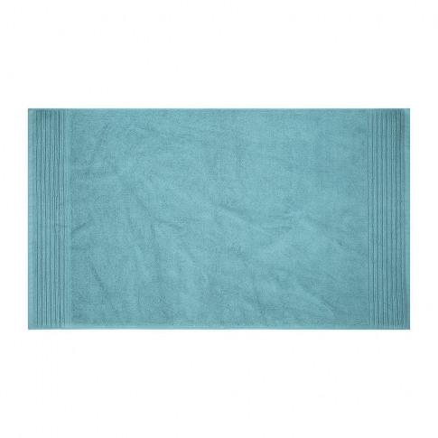 A By Amara - Cotton Bath Mat - Steel Blue