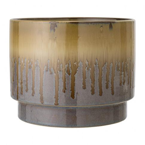 Bloomingville - Round Stoneware Flowerpot - Brown