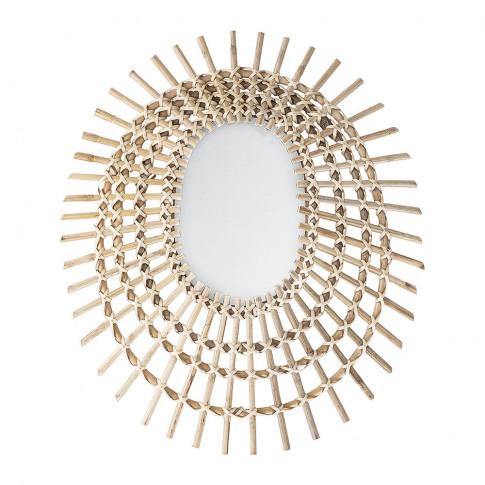 Bloomingville - Woven Cane Mirror