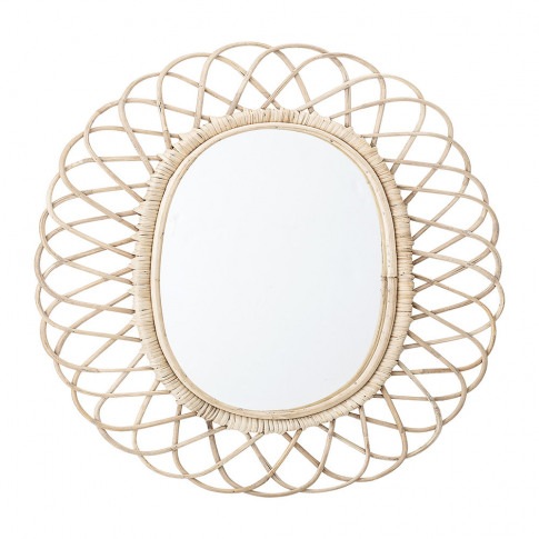 Bloomingville - Oval Cane Mirror