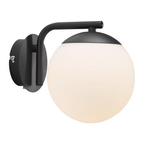 A By Amara - Grant Wall Light - Opal White/Black